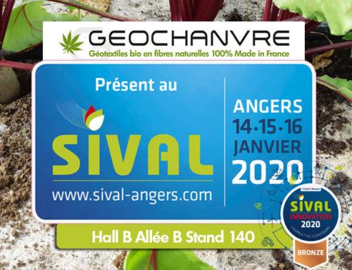 Géochanvre Lauréat au Concours Sival Innovation