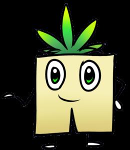 Herbi Mascotte de Géochanvre toujours prêt à lutter contre le plastique