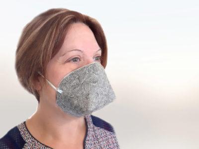 Le masque en fibre naturelle de chanvre,